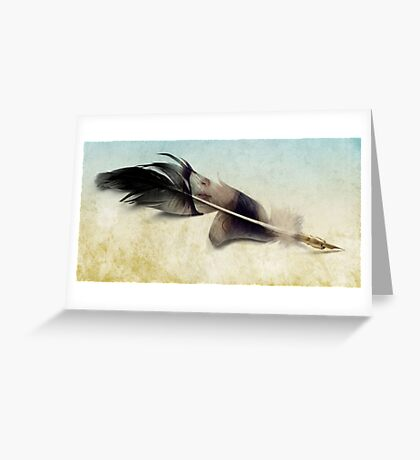 Memory of a quill Greeting Card