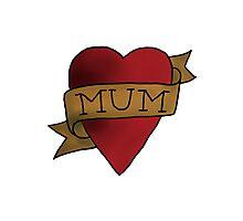Mum ♥ heart tattoo - Matt Helders Photographic Print