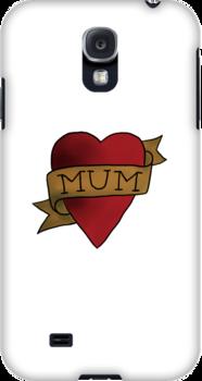 Mum ♥ heart tattoo - Matt Helders by miumiuxx