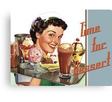 Time for Dessert Waitress  Canvas Print