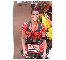 Minnie Mouse at the finish line of the London Marathon Poster