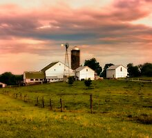 Amish Farm in Lancaster County,PA by KellyHeaton