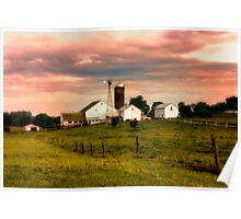 Amish Farm in Lancaster County,PA Poster