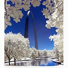 St. Louis Arch in Infrared by Dan  Wampler