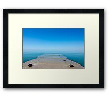 Lake View from the Dock Framed Print