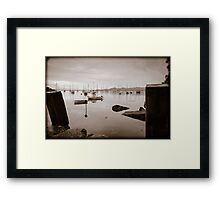 Crinan Harbor Scotland Framed Print