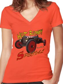 Hot Rodney Special Graphical T-Shirt Women's Fitted V-Neck T-Shirt