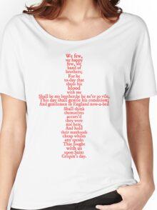 Henry V Speech Shirt Women's Relaxed Fit T-Shirt