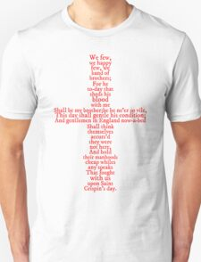 Henry V Speech Shirt Unisex T-Shirt