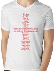 Henry V Speech Shirt Mens V-Neck T-Shirt