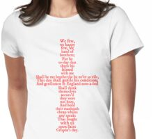 Henry V Speech Shirt Womens Fitted T-Shirt
