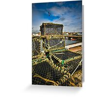 Arbroath Harbor Scotland Greeting Card