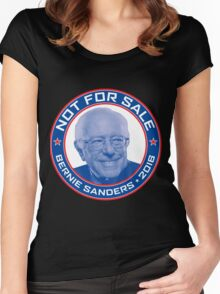 Bernie Sanders 2016 - Not For Sale Women's Fitted Scoop T-Shirt