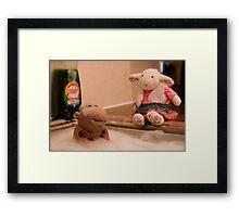Bath Time! Framed Print