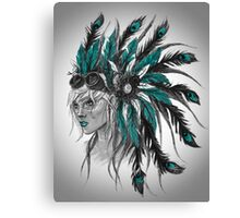 Steampunk Chief Canvas Print