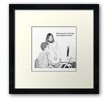 IT Tech Jesus Framed Print