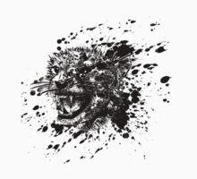 Angry Cheetah in Black Splash Kids Tee