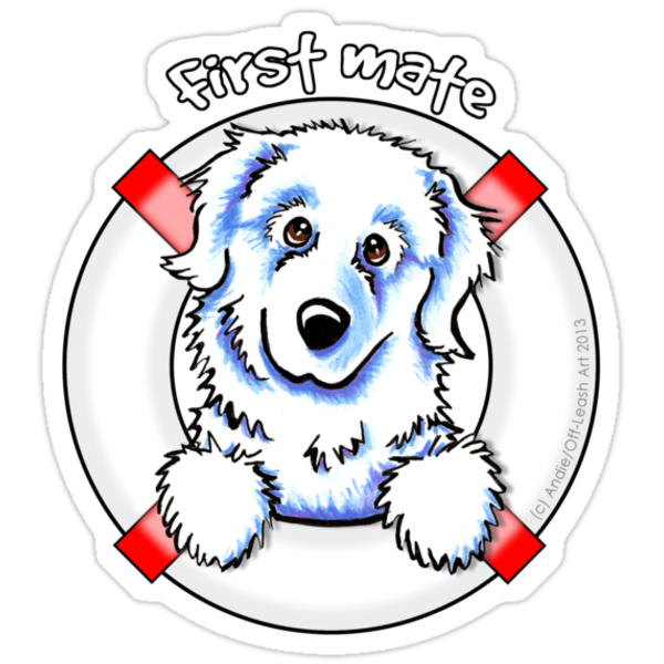 Great Pyrenees :: First Mate by offleashart