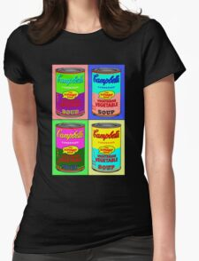 Vegetarian Campbell's Warhol Tribute Womens Fitted T-Shirt