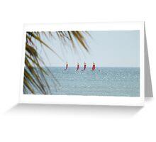 Yachts ... Greeting Card