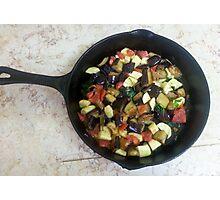 Eggplant And Zucchini with Tomatoes Photographic Print