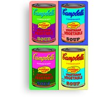 Vegetarian Campbell's Warhol Tribute Canvas Print