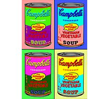 Vegetarian Campbell's Warhol Tribute Photographic Print