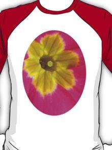 Pink and Yellow Primrose Macro T-Shirt