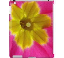 Pink and Yellow Primrose Macro iPad Case/Skin