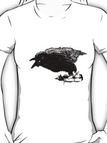 Angry Raven in Black T-Shirt