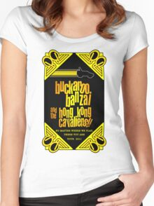 Buckaroo Banzai 2011 Tour - Yellow Version 2 Women's Fitted Scoop T-Shirt