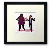Parks and Rec 2 - TREAT YOSELF Framed Print
