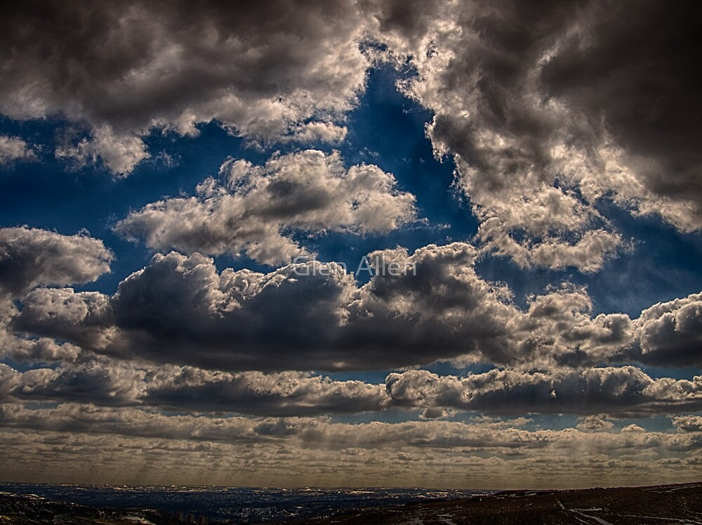 Storm Clouds Over Calderdale, England by Glen Allen