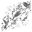 Finches Fluttering in Flowers by samclaire