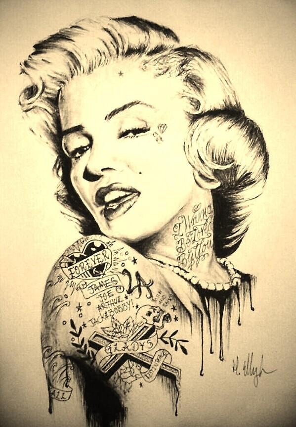 Marilyn Monroe by hannahellington