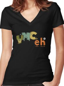 YMC eh? Women's Fitted V-Neck T-Shirt