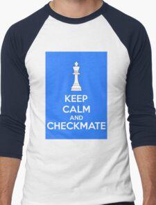 Keep Calm And Checkmate Men's Baseball ¾ T-Shirt