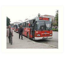 The bus in Adana Art Print