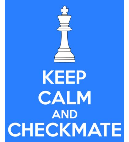 Keep Calm And Checkmate Sticker