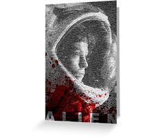 Alien Blood Poster Greeting Card