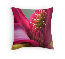 Magnolia stamens Throw Pillow
