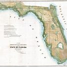 Vintage Map of Florida (1848) by alleycatshirts