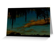 Clouds over Live Oaks Greeting Card