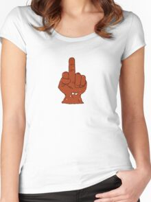 Meatwad-- finger Women's Fitted Scoop T-Shirt