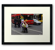 man on wheelchair Framed Print