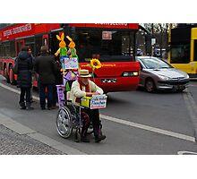 man on wheelchair Photographic Print