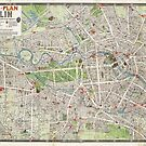 Vintage Map of Berlin Germany (1905) by alleycatshirts