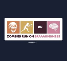 Zombies Run On Brains!! One Piece - Short Sleeve