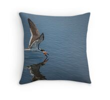 Open Mouth Gets Fish Throw Pillow