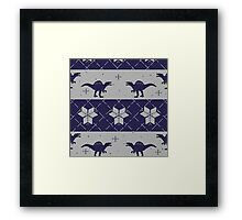 Deck The Halls With Dinosaurs Framed Print